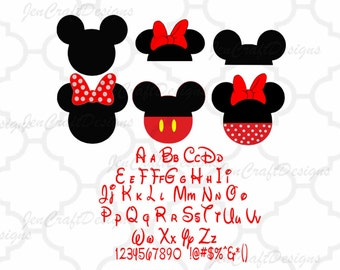 Disney Font SVG Bundle pack Alphabet and Numbers Svg Dxf Eps Cricut Design Space, Silhouette, ...