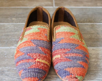 Kilim shoes, Kilim Loafer, Vintage Kilim shoes, Boho Chic shoes, Mens shoes