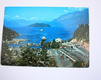 Horseshoe Bay  Postcard / British Columbia Postcard / Ferry Postcard/ Transportation Postcard / Ferry Terminall / Transportation Postcard