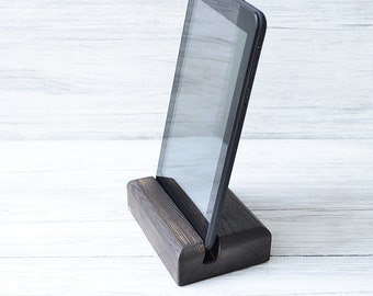 Burned wood iPad stand, Tablet stand, smartphone holder, iPad stand, Gear for tablets,