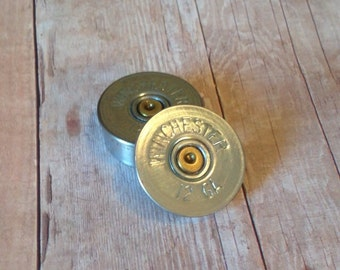 Winchester 12 Gauge Magnets, Bullet gifts, Men's gifts, Women's gifts, Unique gifts, Up Cycled bullets, Handmade gifts
