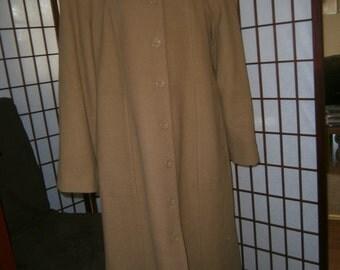 Women's Long Coat-Camel Color