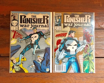 1988 Punisher War Journal #1 and 2 Comic Books/ Marvel Comics/ NM-VF/ Choose One or Both for a Discounted Price!