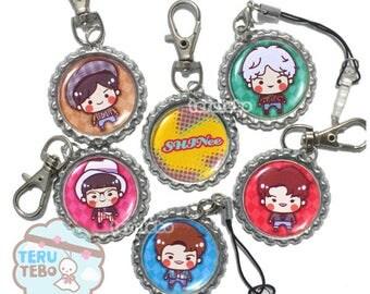 SHINee 1 of 1 / key / minho / taemin / jonghyun / onew / shinee charms / keychains / shinee phone straps / shinee 1of1 / shinee kpop