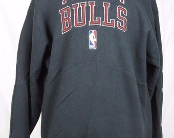 Chicago Bulls Vintage Pro Player Men's XL 90s Crewneck Sweatshirt Jordan Made in USA 50/50