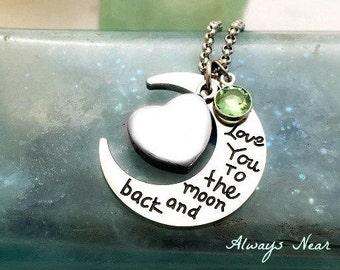 Cremation jewelry ashes pendant personalized urn necklace stainless steel cremation necklace Love you to the moon and back memorial necklace