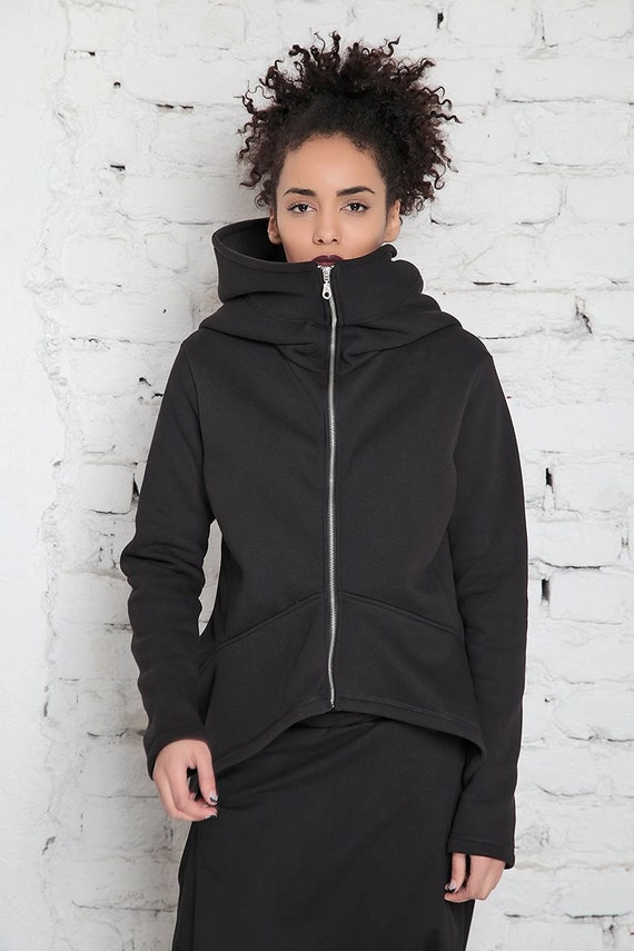 Big Hood Hoodie/ Oversized Hoodie/ Plus Size Workout/ Zip Up
