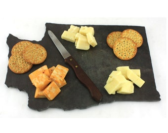 Washington Slate Cheese Board, Serving Tray, or Cutting Board