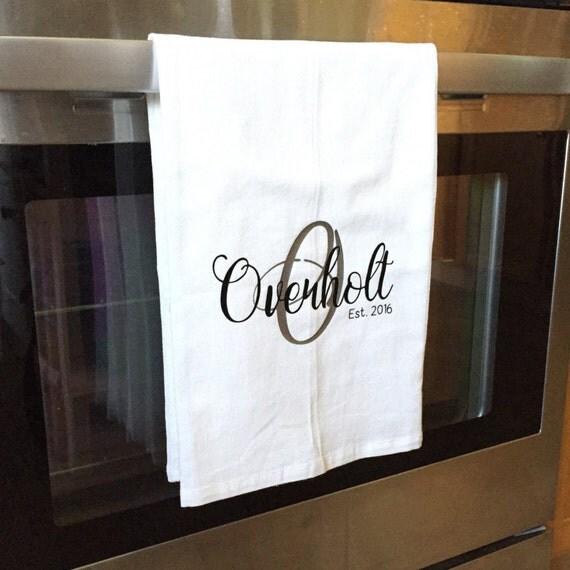 Personalized Kitchen Towel Personalized Tea Towel Name Tea