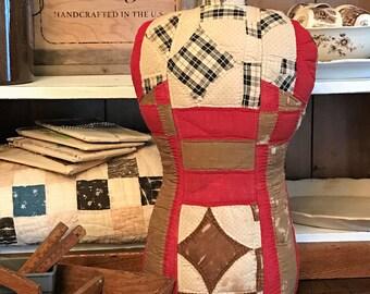 Vintage Quilt Dress Form