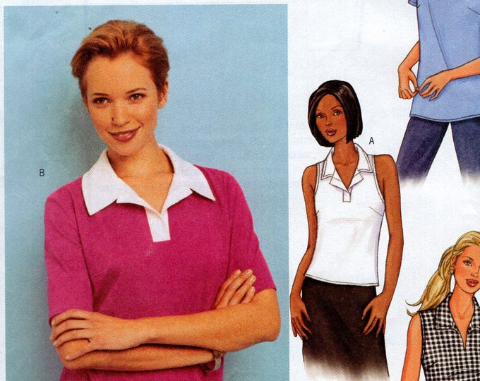 Butterick 3386  3 Looks Sewing Pattern Free Us Ship Pullover Tops Sleeveless Size 6 8 10 Bust 30 31 32 2001 Uncut