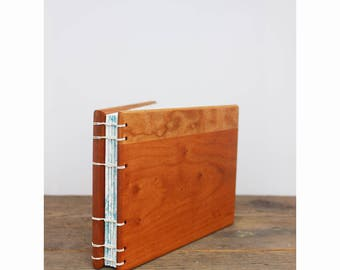 Beach Inspired Wedding Guestbook - Wood Covered Guest Ledger - Wooden Wedding Guestbook - Outdoor Summer Wedding Guestbook - Beach Wedding