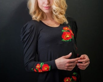 Ukrainian women's  tunic long  sleeve, original ornament,nice to your body