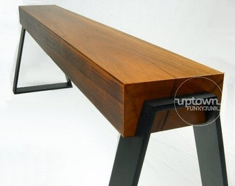 Reclaimed timber bench seat/bench seat/entryway bench/wood bench/industrial bench seat/dining bench seat/wooden stool
