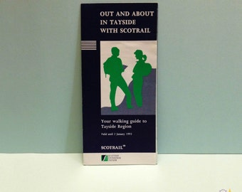 Tayside Walking Guide, Scotrail, Walking in Scotland, Travel Collectibles, Attractions, Vintage Walking Guide 1992