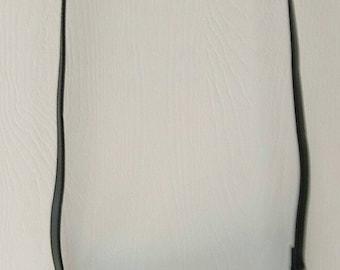Ladies Clutch Shoulder Purse Pocketbook Handbag Bag DETACHABLE STRAP Black Leather  T111
