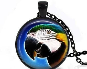 Fractal Macaw - Nature Animal Handmade Pendant Necklace