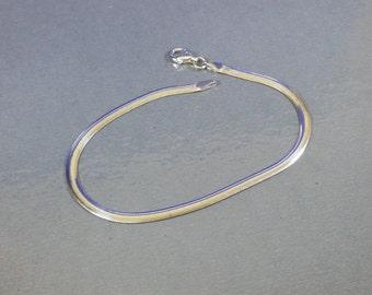 Snake bracelet 925 Silver vintage SA134