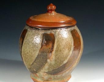 Pottery Cremation Urn: Shino Pet Urn