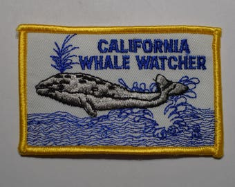 Vintage California Whale Watcher Patch