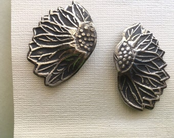 Sterling silver  sunflower post earrings.