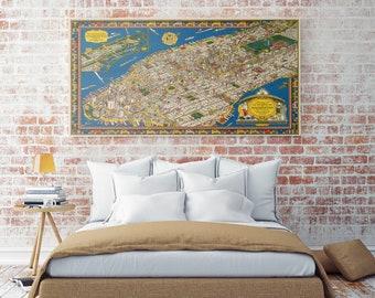 Old Manhattan Map| New York City Map| Manhattan Map Poster| Manhattan Map Print| USA Maps| Old Wall Maps| Manhattan Maps| Manhattan| AMC019