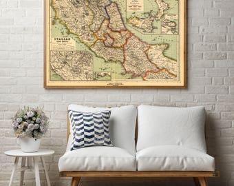 Italy Wall Art italy map wall art | etsy