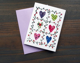 Trellis Heart, Pack of 10 Greeting Card Set