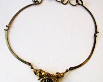 Rare Vintage Brutalist Jack Boyd Bronze Necklace Free Form Modernist Modern Art Jewelry Abstract