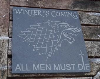 Game Of Thrones slatter platter, cheese board, cheese platter, slate, serving board, game of thrones, GOT, slate platter, got coasters,