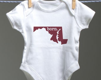 Maryland Onsie, Maryland Baby Bodysuit, Maryland Onsie, MD Baby Shower Gift, MD Baby