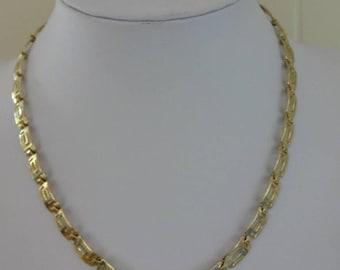 vintage Gold Necklace, Cleopatra Necklace, Greek Necklace, Grecian Necklace, Gold Articulated Necklace