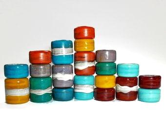 Chakra, Lampwork Beads, Big Hole Beads, Handmade Beads, Large Hole Beads, Glass, Beads, Chakra Colors, European Beads, Big Beads, Supplies