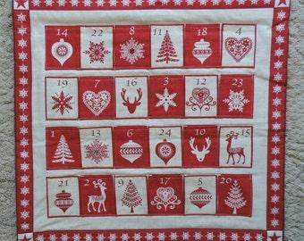 Christmas Advent Calendar. Scandinavian style. Handmade
