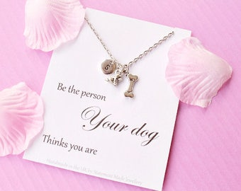 Dog necklace, puppy necklace, dog jewellery, dog pendant, Message card necklace, cat lover jewelry,dog,  ,MCNdog01xmas gift, christmas gift