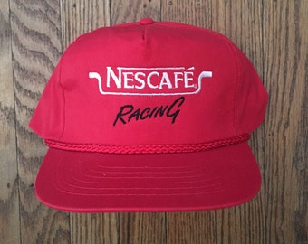 Vintage Nescafe Racing Snapback Hat Baseball Cap