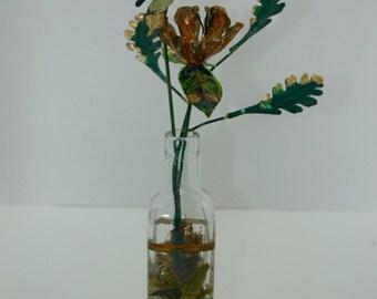 Metal Flower Arrangement// Flowers and Butterfly