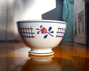 French small miniature café au lait bowl / Vintage bowl / French / Collection bowl / Vintage / Cottage chic decor /