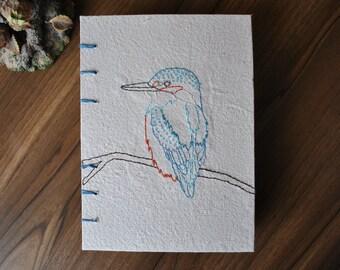 Coptic Stitch Kingfisher Notebook Journal