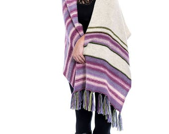 Knitted shawl | wool blanket shawl - oversized shawl wrap - hand knit extra large wrap - oversized scarf - wedding gift - gift for her