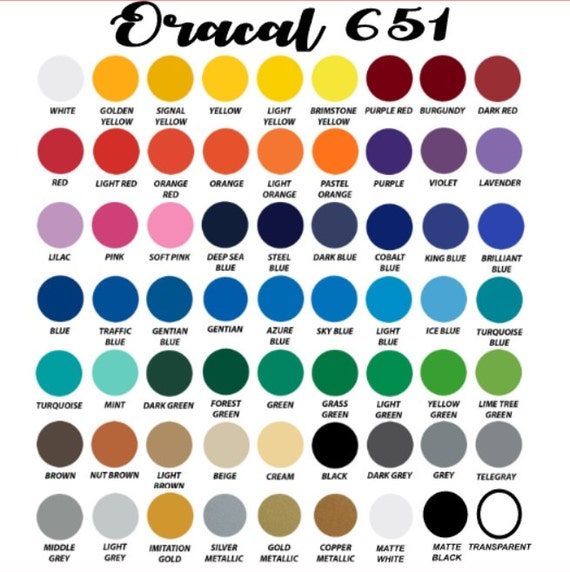 63 Pack Of Each Color Oracal 651 Vinyl 12x12