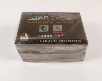 Star Trek Trading Cards, 100 Card Set, Aliens, Personnel, Reflections of the Future, Phase Two, Skybox, Vintage 30th Anniversary, Mint