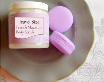 French Macaron Sugar Body Scrub - 2 oz. // Natural, Moisturizing Skin Polish // Travel Size