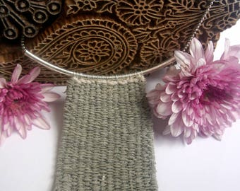 Light Grey Woven Necklace