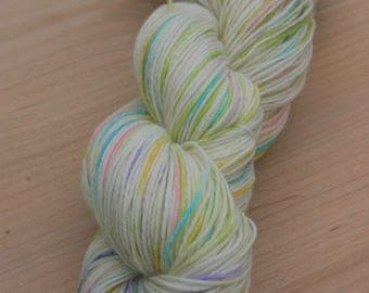 "Hand Dyed Sock Yarn-75/25 SW Merino/Nylon-Posy Sock in ""Baby Bunny"""