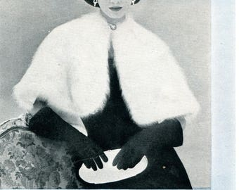 1950's Evening Stole for Angora Knitting Pattern PDF Instant Download