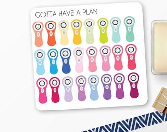 Planner Stickers Clarisonic for Erin Condren, Happy Planner, Filofax, Scrapbooking