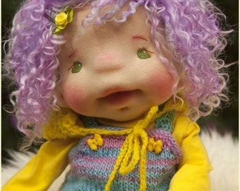 Sold. Waldorf Inspired Baby-doll, 15 inches, Fiber Doll