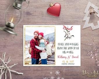 Christmas Photo Card Printable Christmas Photo Save the Date postcard Holiday Save the Date Christmas Wedding Save the Date Digital File