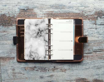Marble  Dashboard, Planner Dashboard, Personal Planner Dashboard, Filofax Personal size, kikki K Medium